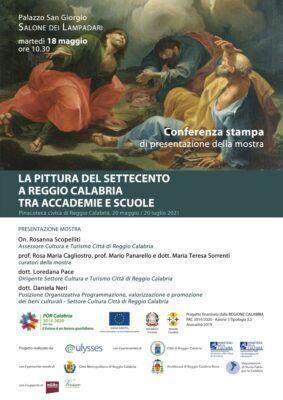 Locandina Pittura Settecento Reggio Calabria Pinacoteca