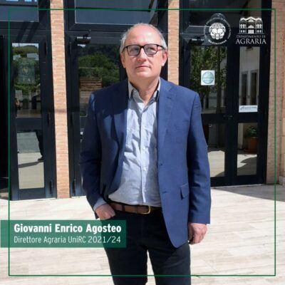Prof Giovanni Enrico Agosteo Eletto Direttore Dipartimento Agraria 1