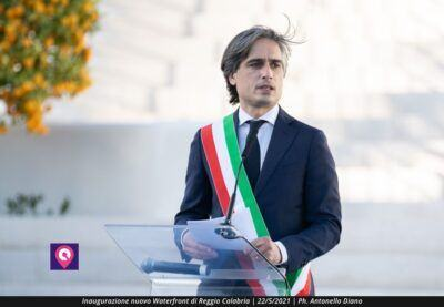 Sindaco Giuseppe Falcomata Inaugurazione Waterfront Reggio Calabria 1
