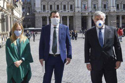 Giorgia Meloni, Matteo Salvini Antonio Tajani