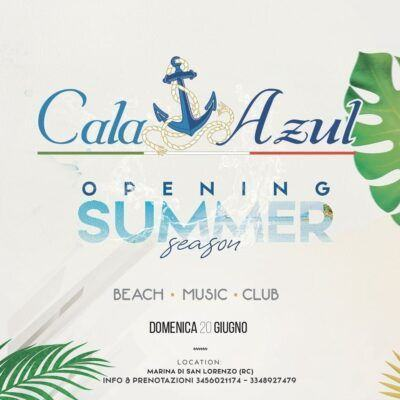 Summer Opening Lido Cala Azul Marina Di San Lorenzo