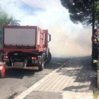 Reggio, in fiamme il parco di San Giovannello