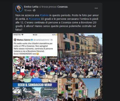 Post Letta Salvini